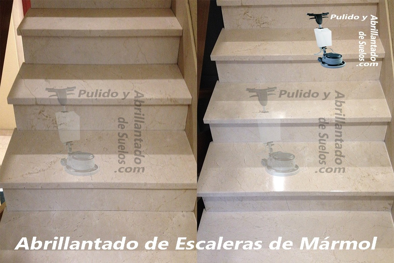 Abrillantado de Escaleras de Mármol