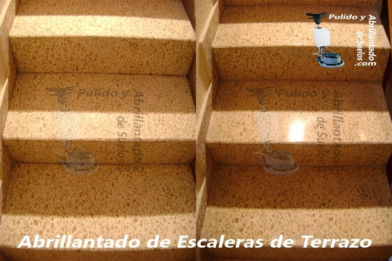 Abrillantado de Escaleras de Terrazo