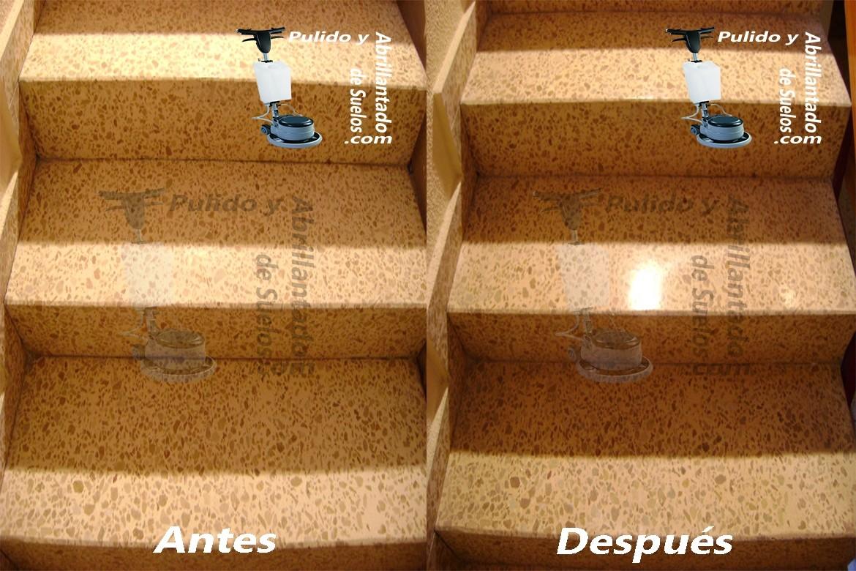 Abrillantado de escaleras de terrazo cristalizado - Liquidos para abrillantar terrazo ...
