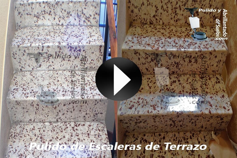 Vídeo de Pulido de Escaleras de Terrazo